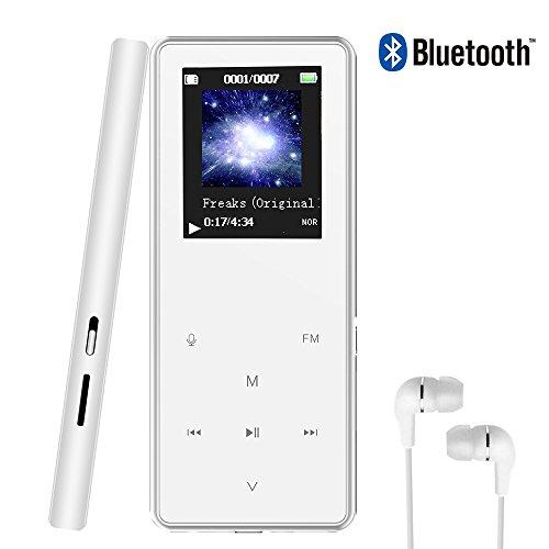 [해외]UNOTIFY MP3 플레이어 HiFi 초 고음질 8GB 음악 플레이어 디지털 오디오 플레이어 터치 버튼 스피커 내장 sd 카드 64GB 지원 음악 재생 녹음 FM 라디오 기능 금속 이어폰 스트랩 볼 부착 .../UNOTIFY MP3 Player HiFi Ultra High Quality 8GB Music ...