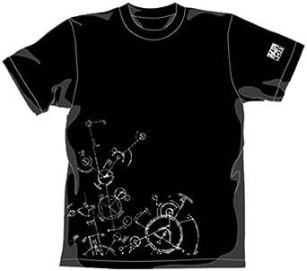 電脳コイル 暗号式Tシャツ ブラック サイズ:L