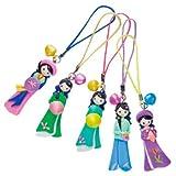ベトナムお土産 アオザイ人形ストラップ 5個セット