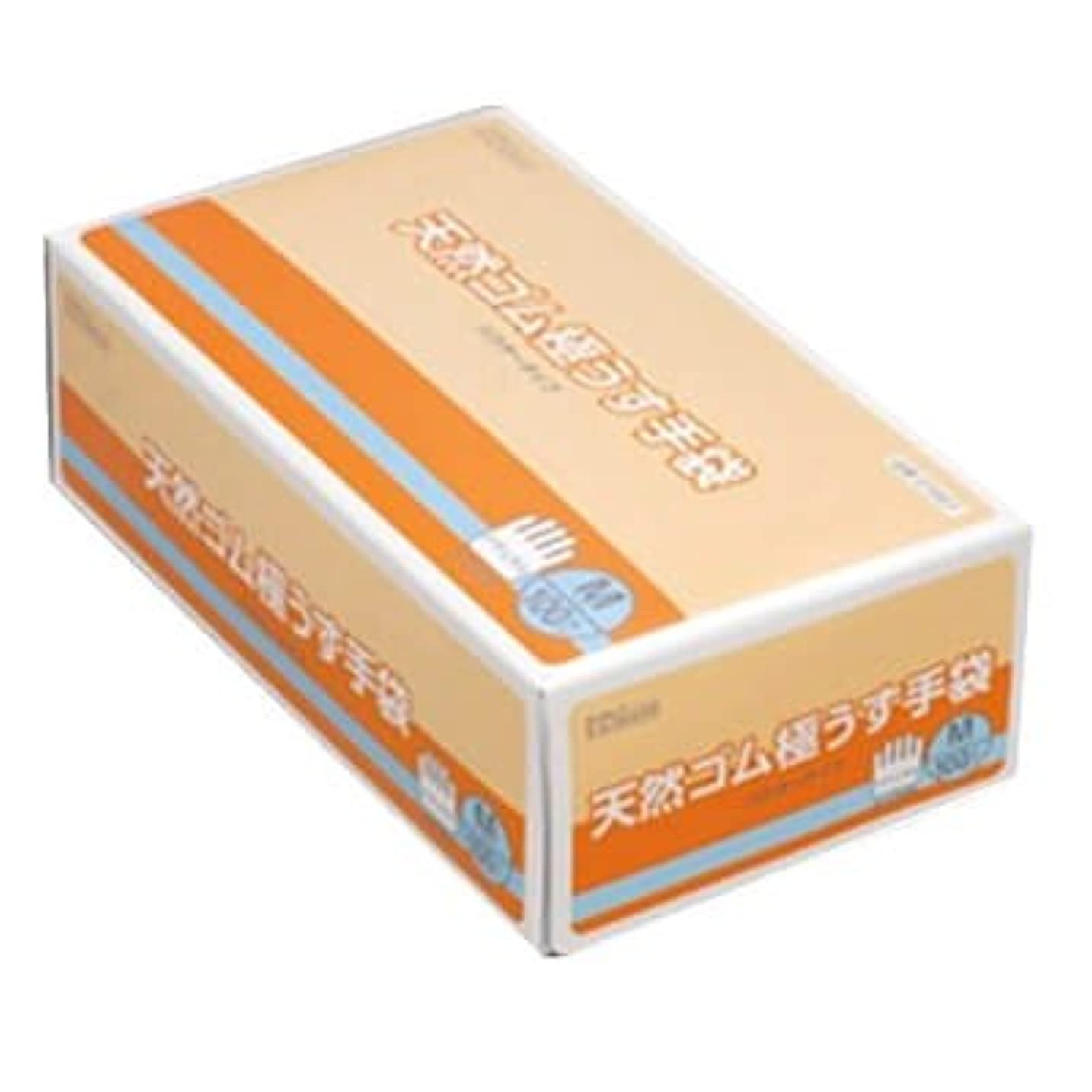 節約方向キャリッジ【ケース販売】 ダンロップ 天然ゴム極うす手袋 M ナチュラル (100枚入×20箱)