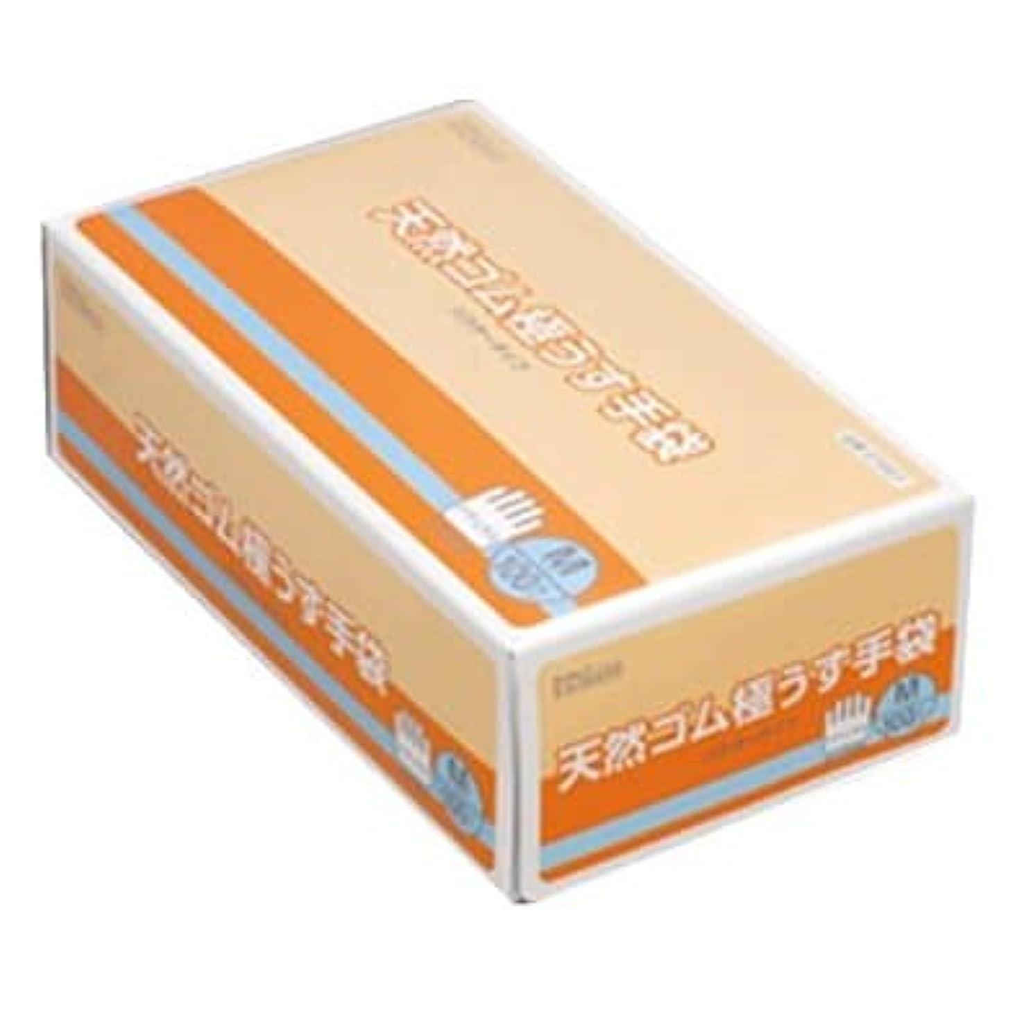 キャストスパン鍔【ケース販売】 ダンロップ 天然ゴム極うす手袋 M ナチュラル (100枚入×20箱)
