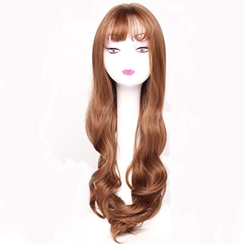 強調するブラシモスクKerwinner レディースウィッグカーリー合成かつら前髪合成耐熱女性ヘアスタイルカスタムコスプレパーティーウィッグ