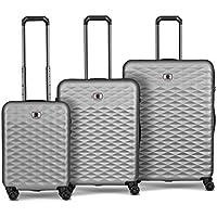 Wenger 604335 Lumen Hardside Luggage Set, Silver, 77 Centimeters