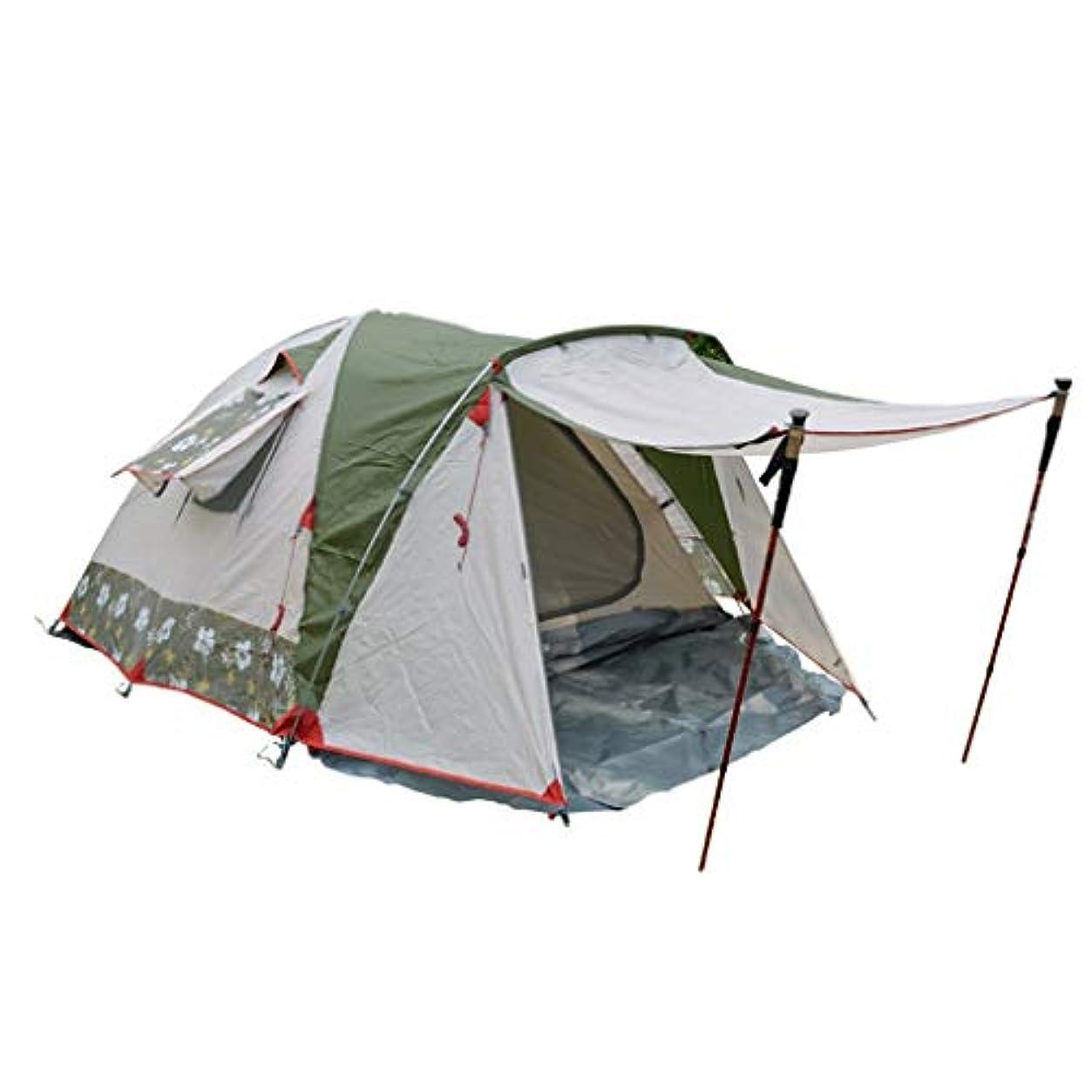 洗練練習した変更可能テント テント、野生の山キャンプ多人数観光アウトドアキャンプ折りたたみ大スペーステントアルミポールダブル収容できる3-4人