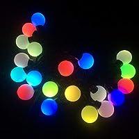 YY2 20 LEDグローブストリングライトは、パーティーツリーのバレンタイン、新年、寝室、結婚式、クリスマスの装飾のための5メートルのワイヤーの妖精ランプを導いた (Color : Color, サイズ : Transparent line)
