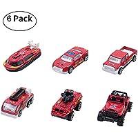あたり6個Toy Car Set Mini Vehicles Gift Pack forベビー幼児子供キッズ