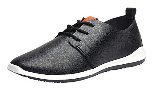 (ケプロ) kepro スニーカー メンズ デッキシューズ ラバーソール ファッションスニーカー 靴 ローカット カジュアル (27.0 cm, ブラック)