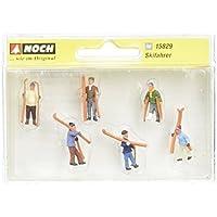 Noch 15829 Skiers Walking 6/HO Scale Model Figures [並行輸入品]