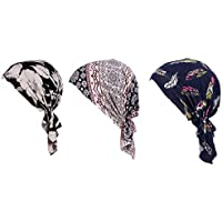 Yuana 3 Pack Women's Chemo Hat Turban Head Scarves for Cancer Patient