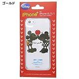 ミッキー&ミニー[iPhone SE 5Sケース]アイフォンSE 5Sクリアカバー/LOVE ゴールド ディズニー