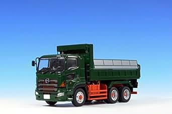 プラッツ KK-3 1/50 日野プロフィアFS 6×4 ダンプトラック 緑 フルキャブ 標準ルーフ (赤シャシー)