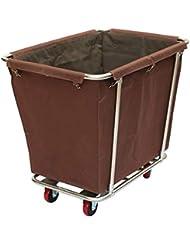 商業サービングカートのトロリー、ホテルの部屋のための車輪の頑丈な洗濯のトロリー、モーテル、90×65×85cm (Color : Brown)