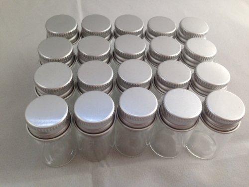 RoomClip商品情報 - 【ノーブランド品】ミニチュアガラスボトル アルミキャップ 20 22×40ミリ