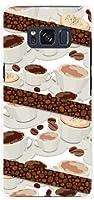ギャラクシー S8 [sc-02j scv36] galaxy s8 TPU ソフトケース コーヒーとコーヒー豆 docomo au スマホケース ドコモ エーユー スマホカバー デザインケース