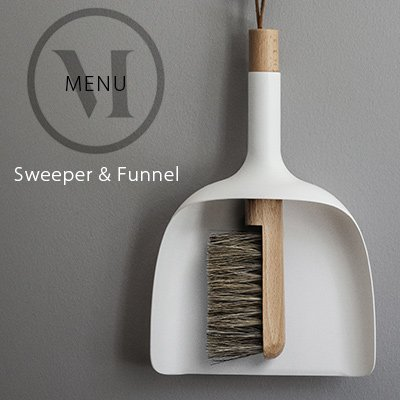 Sweeper&Funnel スウィッパー&ファンネル menu メニュー JAN KOCHANSKI (ホワイト)