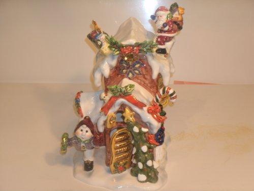 Grandeur Noel U5001 Santa Drops Off Presents Christmas House [並行輸入品]