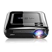 ICOCO-LESHP プロジェクター 3200ルーメン 1080PフルHD対応 1920x1080最大解像度 HDMIケーブル付属 台形補正 パソコン/スマホ/タブレットなど接続可能 (ブラック)