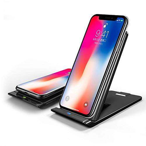 icyber iphonex ワイヤレス充電器 折り畳み式 Qi 3つのコイル iPhone 8/8+ に充電対応 その他Qi対応機種