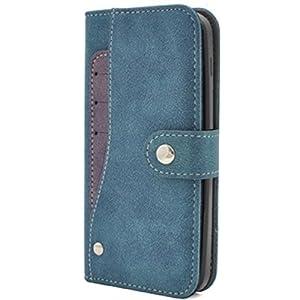 PLATA DIGNO F / DIGNO E 503KC ケース 手帳型 ディグノ スライド カード ポケット ソフト レザー ケース 手帳 カバー 【 ブルー 青 あお blue 】 Y503KC-97BL