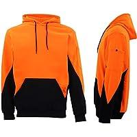 Zmart Australia HI VIS Safety Fleece Pull Over Hoodie Jumper Jacket Workwear Kangaroo Pen Pocket
