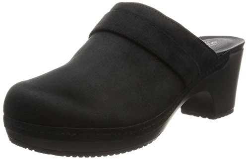 [クロックス] CROCS クロックス Crocs Sarah Synthetic Suede Clog W クロックス サラ シンセティック スエード クロッグ ウィメン クロック 203861 001 (Black/W8)