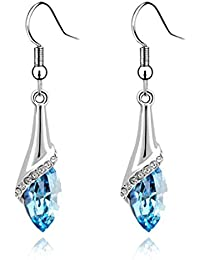 Jojckmen Women Crystal Water Drop Hook Earring Alloy Long Dangle Earrings