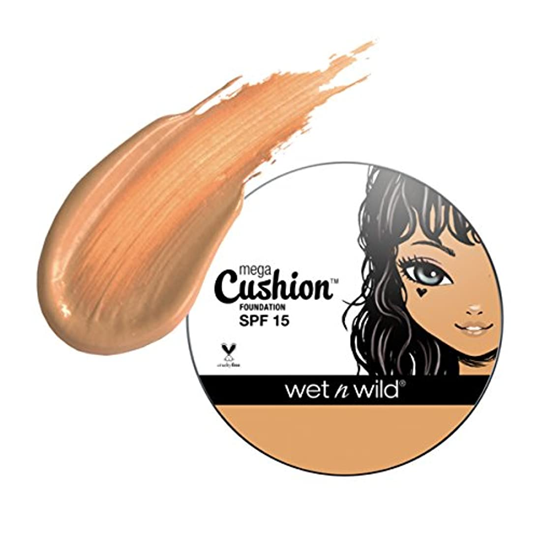 バスルーム所属つかの間(6 Pack) WET N WILD MegaCushion Foundation SPF 15 - Honey Beige (並行輸入品)