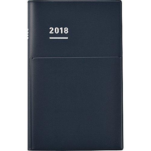 コクヨ ジブン手帳 Biz mini 2018年手帳 2017年12月始まり B6スリム マットネイビー ニ-JBM1DB-18
