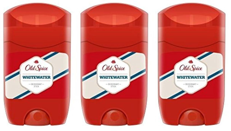 不実届ける炭水化物(Pack of 3) Old Spice Whitewater Deodorant Solid Stick for Men 3x50ml - (3パック) オールドスパイスホワイトウォーターデオドラントソリッドスティック...