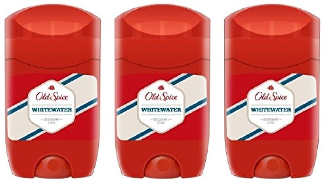 アセンブリドキドキ伝導率(Pack of 3) Old Spice Whitewater Deodorant Solid Stick for Men 3x50ml - (3パック) オールドスパイスホワイトウォーターデオドラントソリッドスティック男性用3x50ml