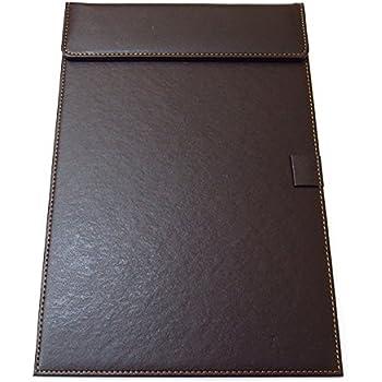 Amazon | Jplabo 高級 PU 革製ボードA4 ファイル ボードブラウン会議 ...