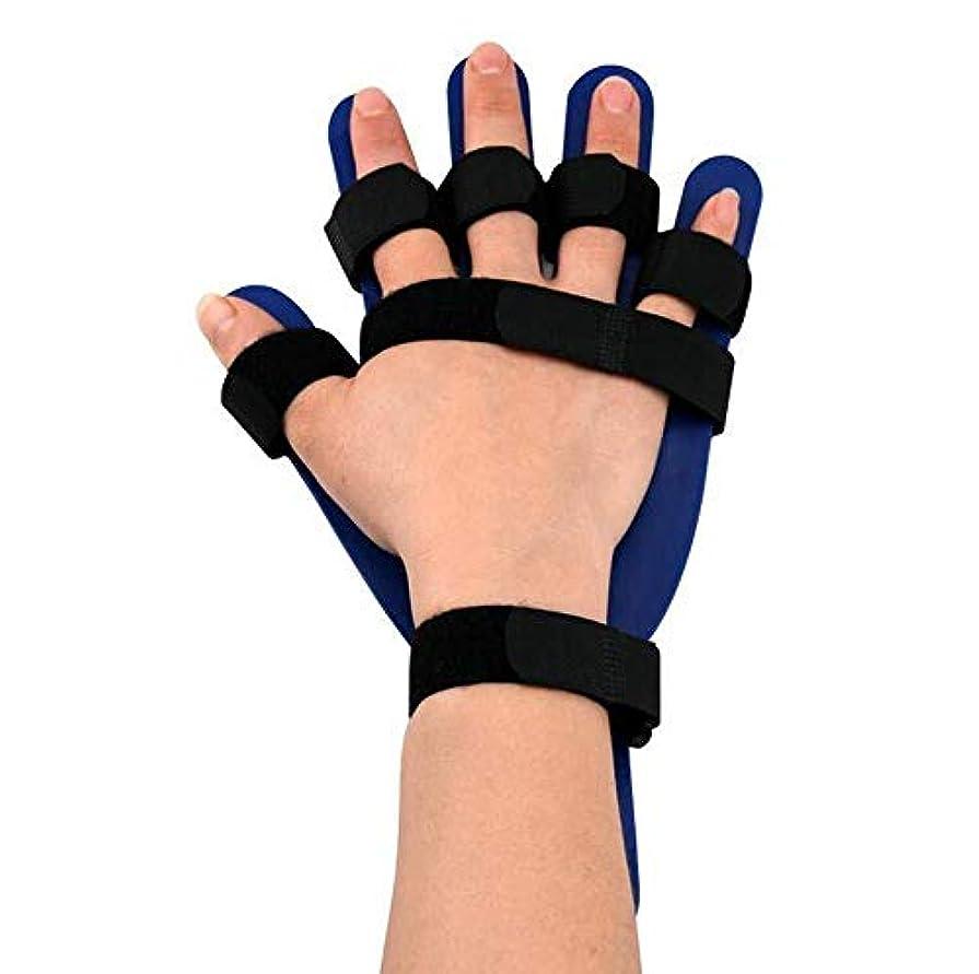 暗黙ハリウッド羽親指サポートトリガーフィンガースプリント、右手首スプリントユニセックスフィンガープレート,Right Hand