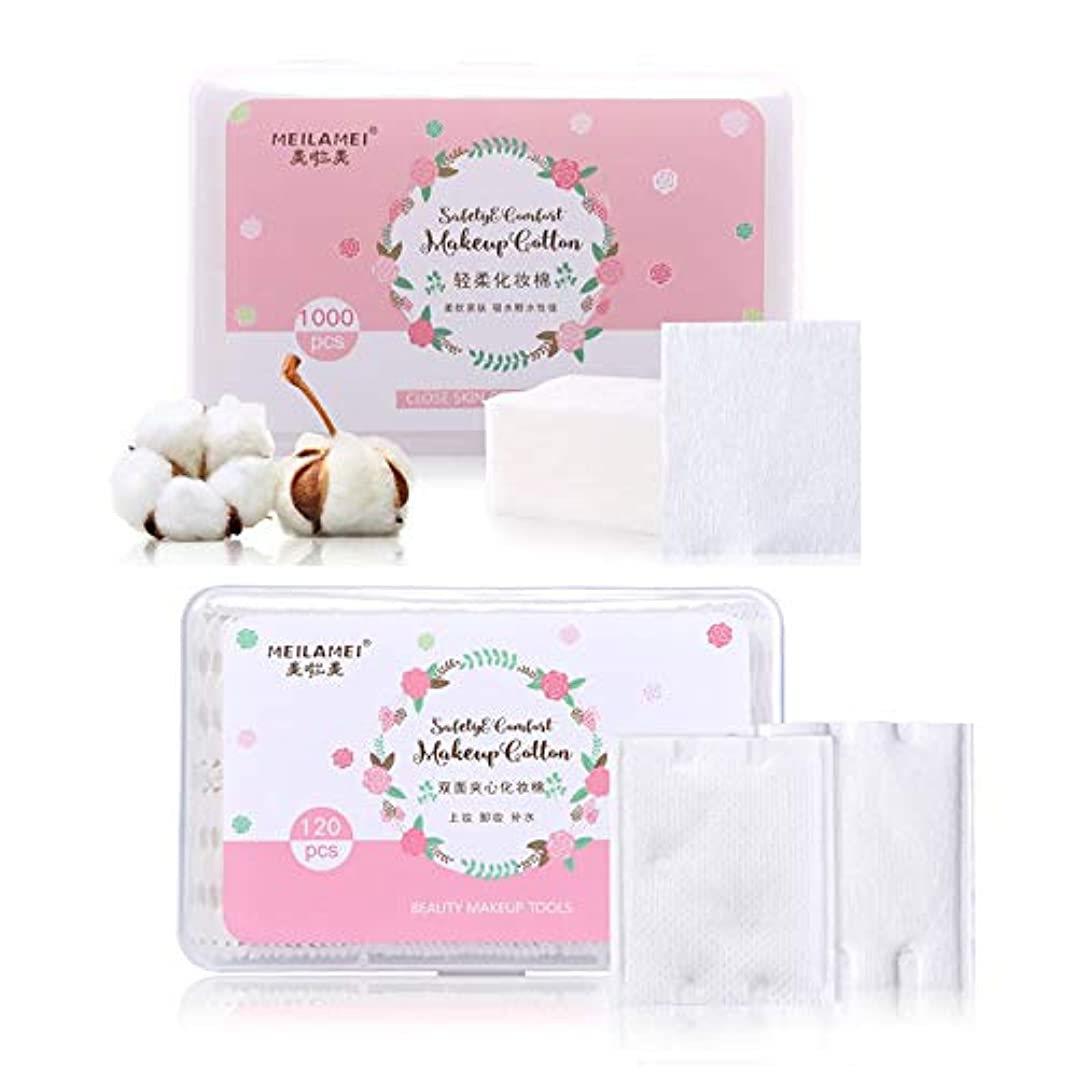予想するぎこちない新年ネイルワイプ 化粧コットン ネイルオフ不織布 ジェルネイルオフ 未硬化ジェルの拭き取り ピンク (1000枚+120枚)
