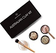 Caim & Able Australian Clay Beauty Skin Care Gift Set of Zeolite, White, Pink Clay Powder - Birthday Gifts For Women Her - A