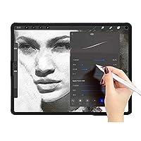 iPad Pro 12.9インチ用紙のようなiPadスクリーンプロテクター グレア防止 耐傷性 高タッチ感度 指紋防止 Apple Pencilを使って紙の上で書くように書く 9.7 IN