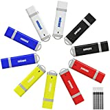 メイナミ 10個セット USBメモリ 1gb キャップ式 フラッシュメモリー カラフル 業務用 ストラップ付き まとめ買い 5色(10個入り)