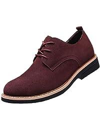 [BERLIFOOTWEAR] レースアップシューズ メンズ 本革 スエードシューズ カジュアルシューズ 紳士靴 通勤用 ブラック ブラウン ブルー