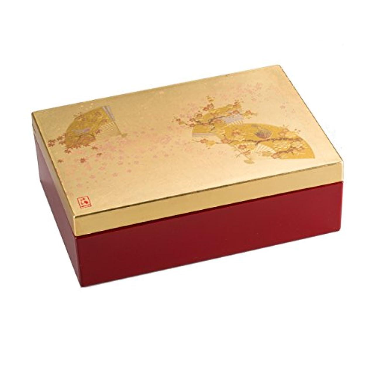 エレガントびんイライラする箔一 ジュエリー収納 ゴールド 115×165×55mm うららか アクセサリーBOX A122-04006