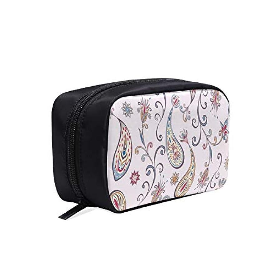 揺れる安全排他的KDGCH メイクポーチ インド風の花 ボックス コスメ収納 化粧品収納ケース 大容量 収納 化粧品入れ 化粧バッグ 旅行用 メイクブラシバッグ 化粧箱 持ち運び便利 プロ用