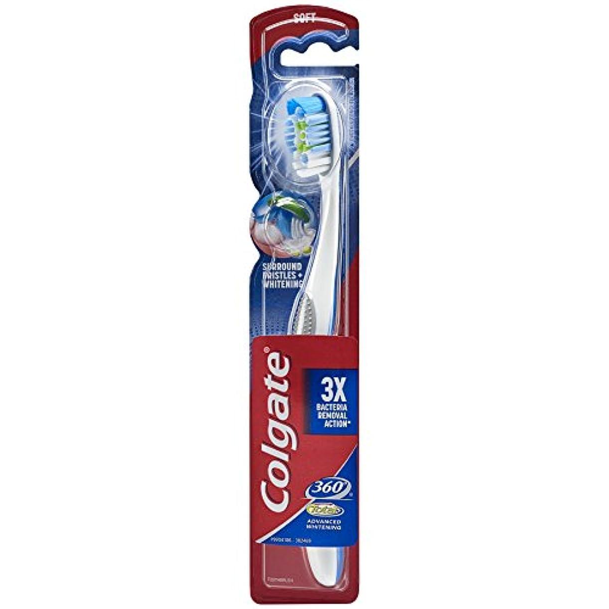 競う土地楽観Colgate 360合計アドバンスト完全な頭部歯ブラシ、ソフト(1パック) 1パック