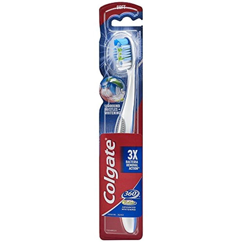 期待して増加する四半期Colgate 360合計アドバンスト完全な頭部歯ブラシ、ソフト(1パック) 1パック