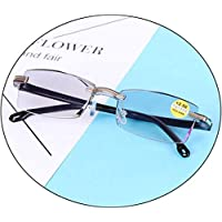 Comfortable Anti-Blue Light Reading Glasses Ultralight Resin 100/150/200/300 Degree Anti-Fatigue Reading Glasses Beautiful (Color : Gray, Size : +2.0)