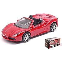 フェラーリ 488 スパイダー オープンカー モデルカー ダイキャスト製 ミニカー イタリア Burago 1/43 Ferrari 488 GTB (レッド) [並行輸入品]