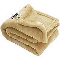 掛け 洗える メリノウール マイヤー毛布 シングル 公式三井毛織 国産 送料無料 ベージュ