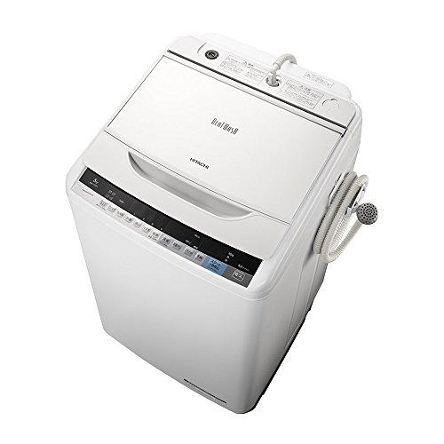 日立 全自動洗濯機 ビートウォッシュ 8kg ホワイト BW-V80A W