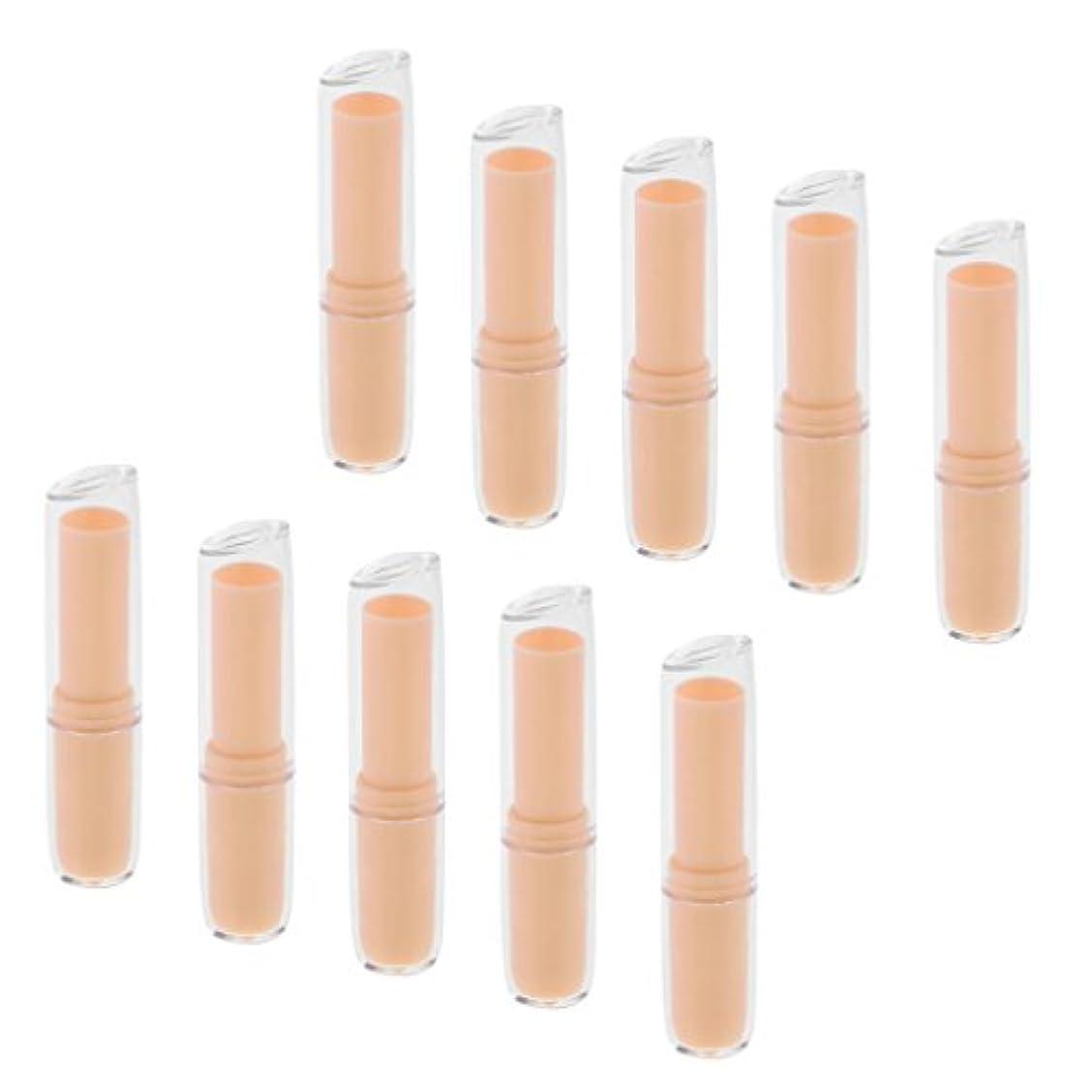 花不運忠実に10個の空の口紅チューブリップクリーム容器DIY化粧品メイクアップツール - オレンジ