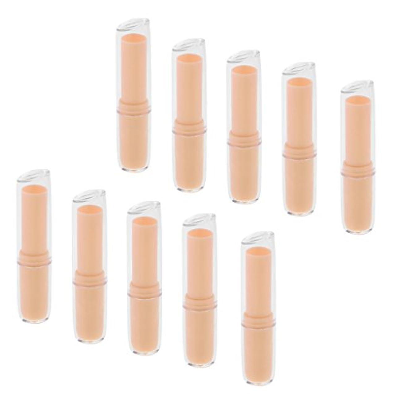 くそー夢中愛撫10個の空の口紅チューブリップクリーム容器DIY化粧品メイクアップツール - オレンジ