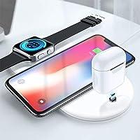 RaiFu Qi 急速 ワイヤレス充電器 3 in 1 ワイヤレス チャージャー 置くだけ充電 iPhone X XR XS Max Watch AirPods対応