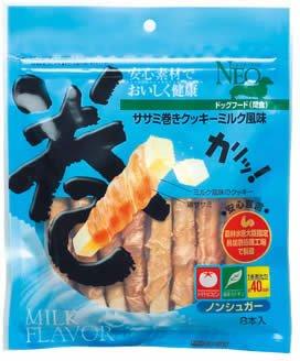 シーズイシハラ NEO ササミ巻きクッキー ミルク風味 8本