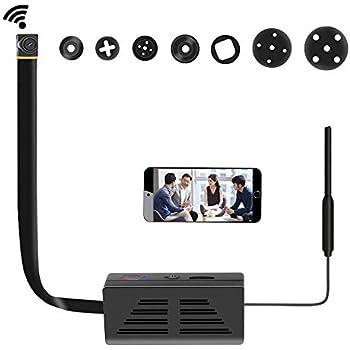 Wifi 小型カメラ 隠しカメラ 1080P高画質 防犯監視小型 スパイカメラ 長時間録画 スマホにリアルタイム監視 iPhone/Android 遠隔監視・操作